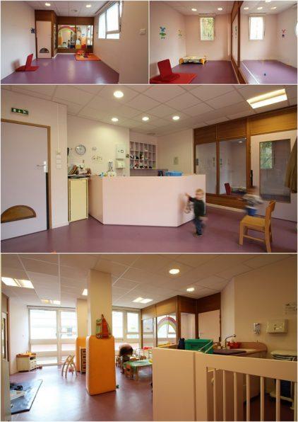 Architecte - crèche couleurs violet