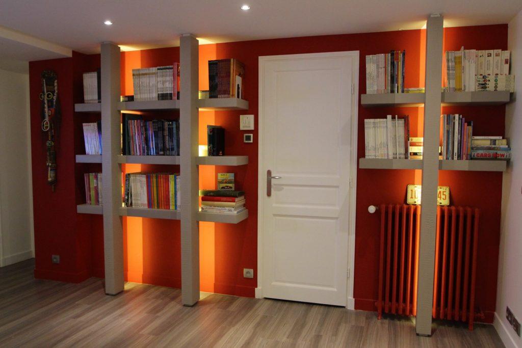 Architecte intérieur Hôtel particulier Neuilly BIBLIOTHEQUE LED (6)