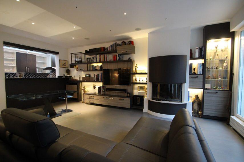 Architecte intérieur Hôtel particulier Neuilly MEUBLE BIBLIOTHEQUE TV (1) Image à la une