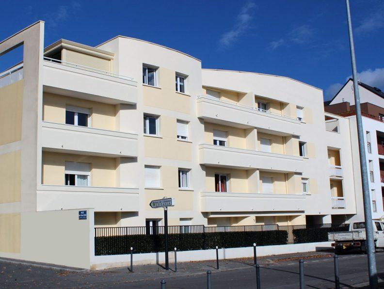 Architecture - façade Nantes malville